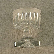 SALE Cut And Molded Clear Glass Master Salt American Circa 1850