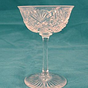 SALE American Brilliant Cut Glass Hawkes Small Goblet