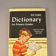 SALE Picture Dictionary For Primary Grades 1960