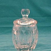 SALE Heisey Glass Mustard Pot With Lid Circa 1930's