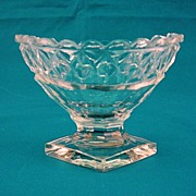 SALE 1900 English Cut Glass Master Salt