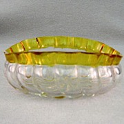 SALE Hobbs Francesware Swirl Early American Pattern Glass Oval Bowl