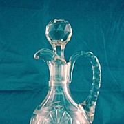 SALE American Brilliant Cut Glass Hawkes Cruet Circa 1900