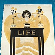 SALE Fade Away Girl In Yellow By Cole Phillips for 1908 Life Magazine	Cover
