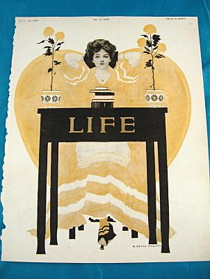 Fade Away Girl In Yellow By Cole Phillips for 1908 Life Magazine	Cover