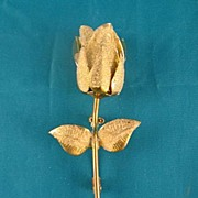 SALE Austria Rose Bud Brooch Circa Mid 20th Century