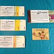SALE 4 Disneyland Coupon Books Plus A Child�s Coupon Circa 1970's