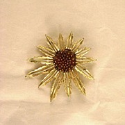SALE Coventry Sunflower Brooch Circa 1970's