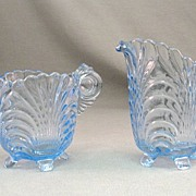 SALE Cambridge Blue Caprice Sugar and Creamer 1930's