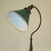 SOLD Emeralite Desk Lamp With Shade Circa 1920's