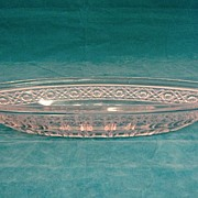SALE Higbee Pressed Glass Celery Dish Circa 1900