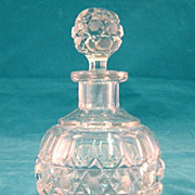 SALE English Cut Glass Cologne Circa 1900