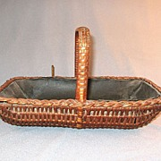 SALE Sewing Basket Circa Late 1800's.