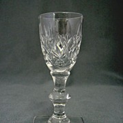 SALE Signed Cut Glass Hawkes Cordial Glass