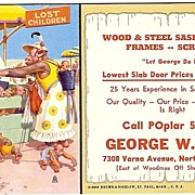 SALE Advertising Blotter By Artist Lawson Wood For George W King
