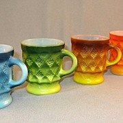 SALE 4 Kimberley Fire King Mugs