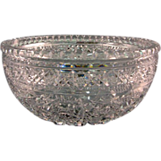 SALE American Brilliant Cut Glass Bowl