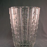 SALE Cut Glass Vase