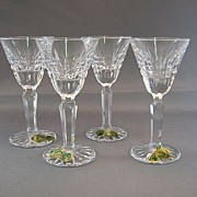 SALE 4 Waterford Cut Glass Cordials