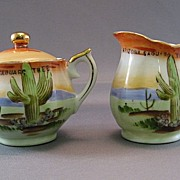 SALE Arizona 1920's Souvenir Sugar & Creamer