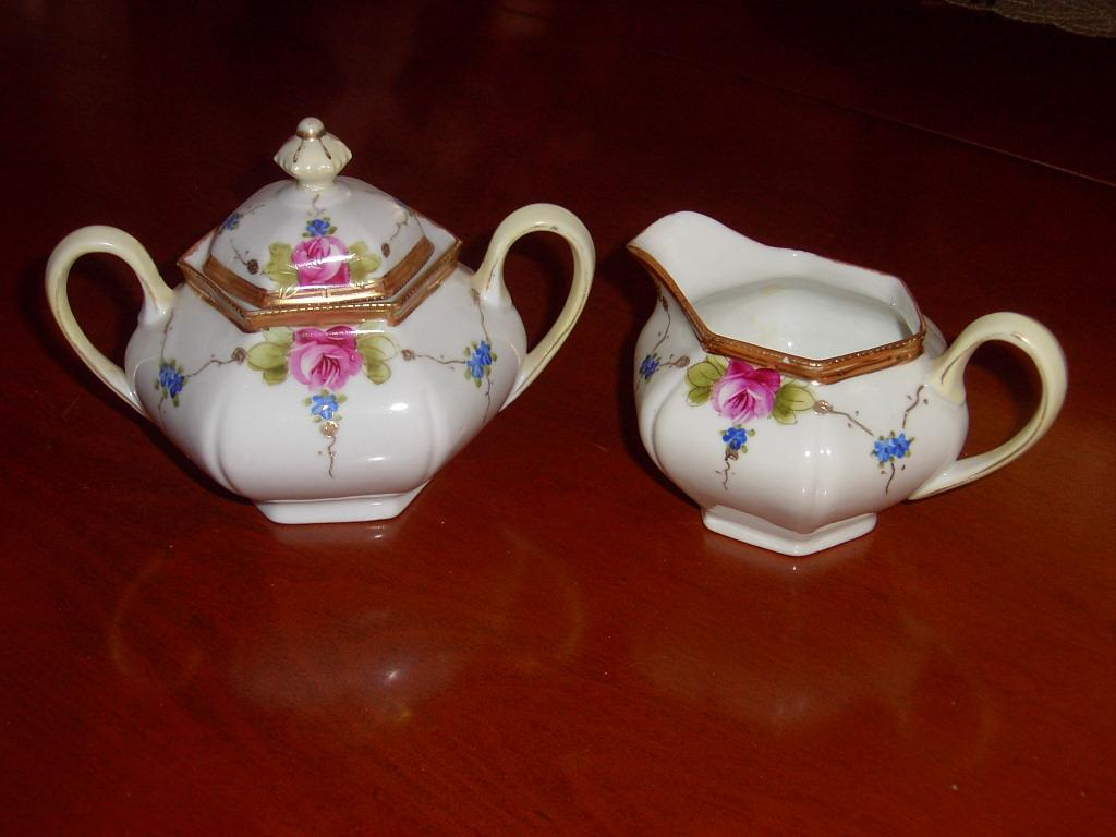 Antique Nippon TE-OH China Cream and Sugar