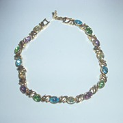 REDUCED Pastel Rhinestone Bracelet ~ LOVELY