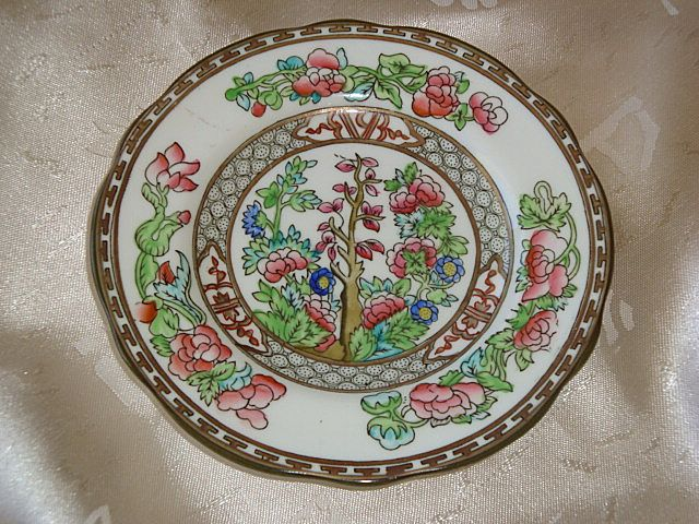 Coalport Indian Tree Semi – Scalloped Bread and Butter Plate