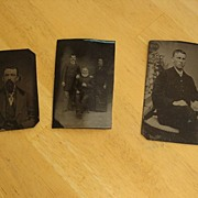 REDUCED Selection of 3 Tin / Tintype Photographs ~ 1800's