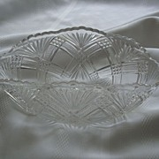 REDUCED Antique Greenburg Glass Works Tacoma Banana Bowl EAPG�Circa 1894