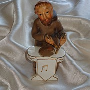 SOLD Vintage Napco MONK Drummer Figurine -1956 Hand Painted