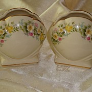 Pair of Vintage Decorative Shell Shaped Vases ~ England