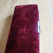 REDUCED Large Vintage Red Velvet Photo Album ~ 1922
