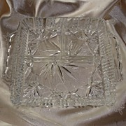 Pinwheel 3 Section Crystal Relish / Pickle Dish
