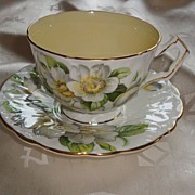 REDUCED Aynsley C1132 Textured Crocus Shape Orange Blossom Tea Cup and Saucer