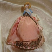 REDUCED Porcelain Lady Half Doll Pin Cushion