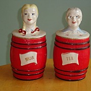 Regal China Corporation Old McDonald's Farm Pattern Tea and Sugar Canister Set