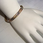Italy 925 Sterling Silver Tri-Colored Bracelet