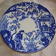 "Royal Crown Derby Blue Mikado Pattern 8 1/4"" Salad Plate"