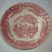 Churchill Brook Pink Cereal Bowls ~ Staffordshire England
