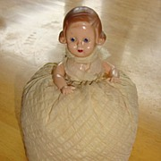Plastic Half Doll Pin Cushion ~ Rare 1930's