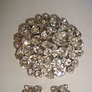 REDUCED Signed Sherman Clear Multi Shaped Crystal Cluster Pin Set