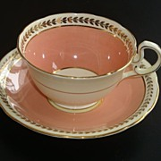 REDUCED Aynsley Peach with Gold Tea Cup and Saucer