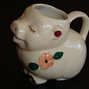 Vintage Shawnee Art Pottery SMILEY PIG Creamer