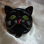 Vintage Shafford Black Cat HTF Ashtray ~ Circa 1950�s
