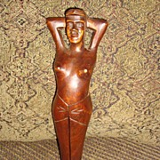 SOLD Vintage Risque Woman Novelty Nutcracker