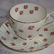 Aynsley Mini Roses Tea Cup and Saucer