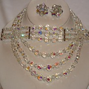 Outstanding AB Crystal Full Parure