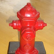 Red Fire Hydrant Cast Iron Bookends by Sentinel