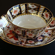 SALE PENDING Vintage Aynsley IMARI Scalloped Tea Cup and Saucer ~ Pattern # 5500