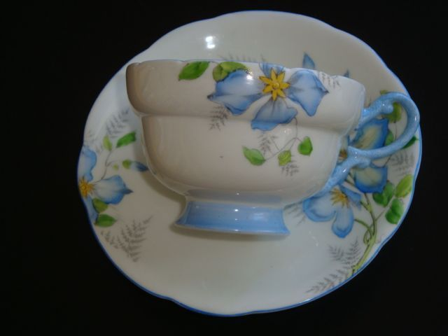 Royal Paragon CLEMATIS Tea Cup and Saucer...Circa 1930's
